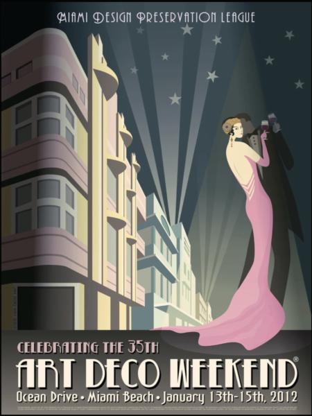 35th Annual Art Deco Weekend mini poster